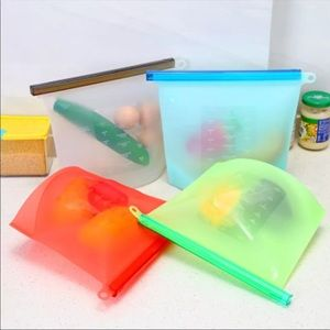 Reusable Silicone Food Storage Bags (6)